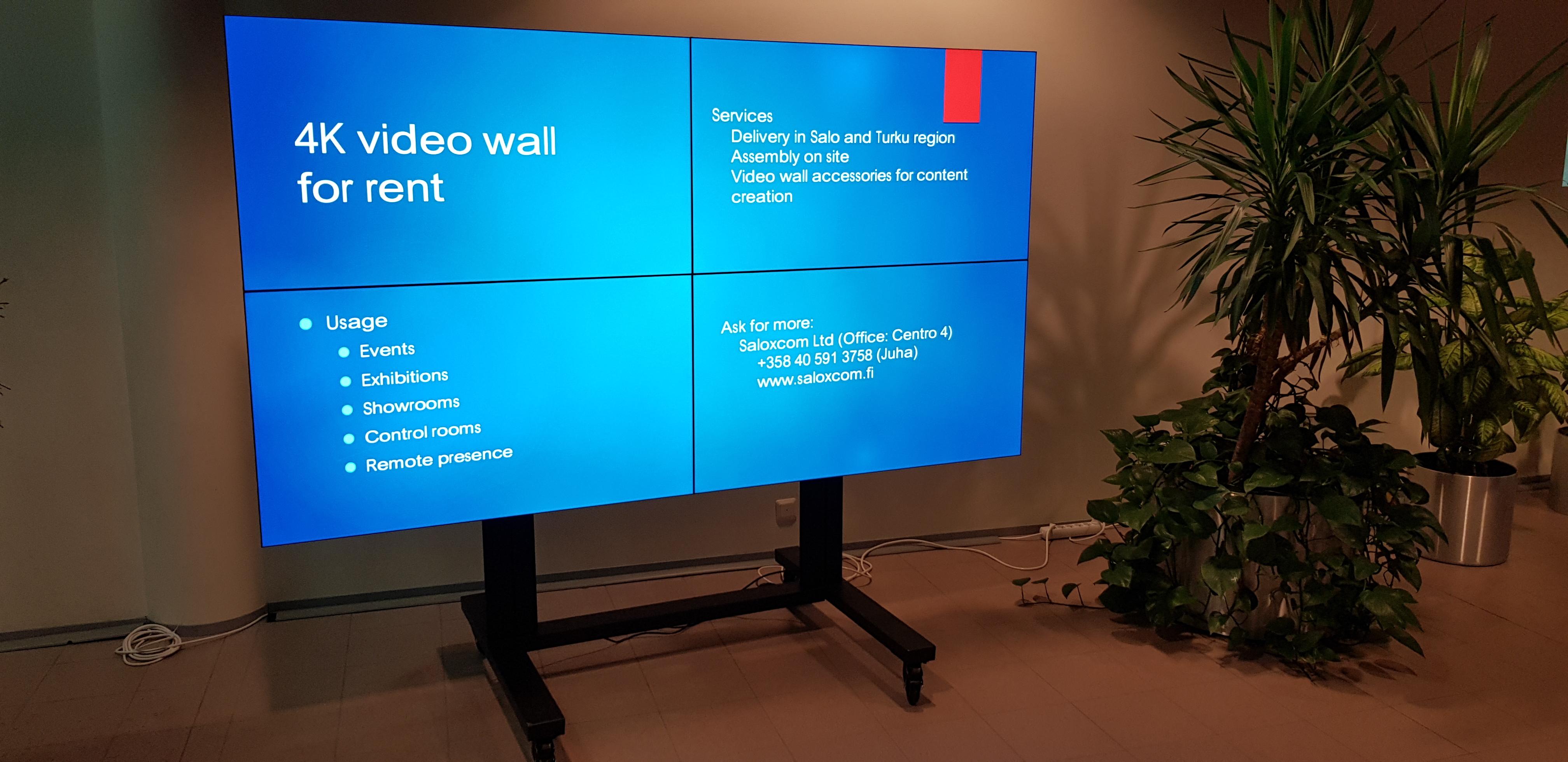 Video wall solutions - SaloxCom